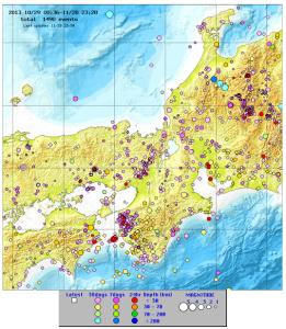 近畿の地震情報