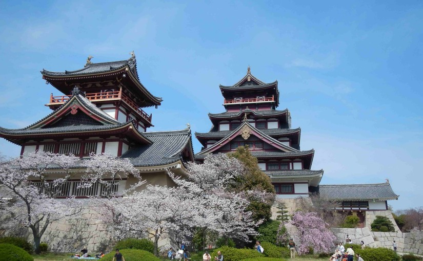 桜と伏見桃山城