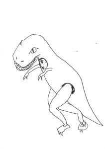 ティラノサウルス原画