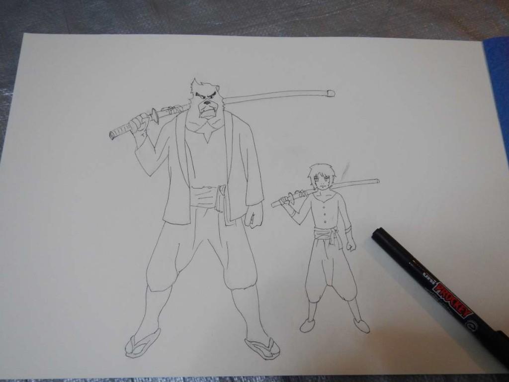 バケモノの子ペン画