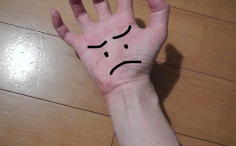 右手首が痛い
