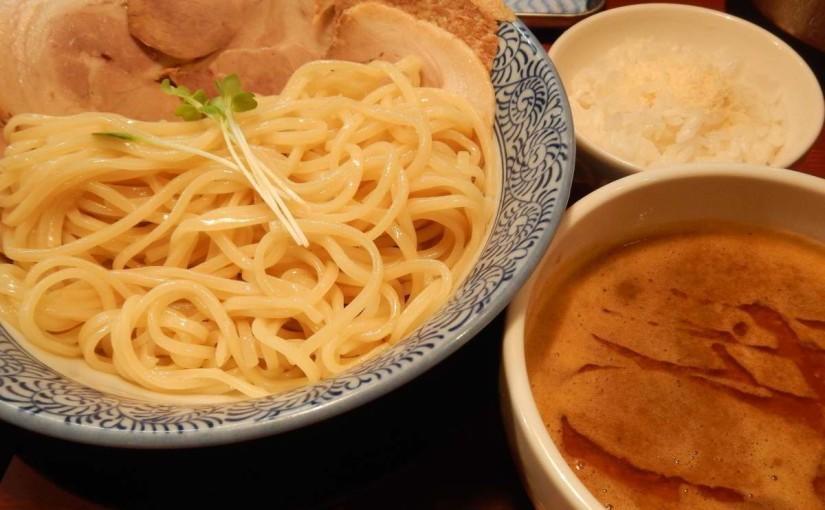 頑固麺の海老香る鶏豚骨つけ麺(京阪藤森)