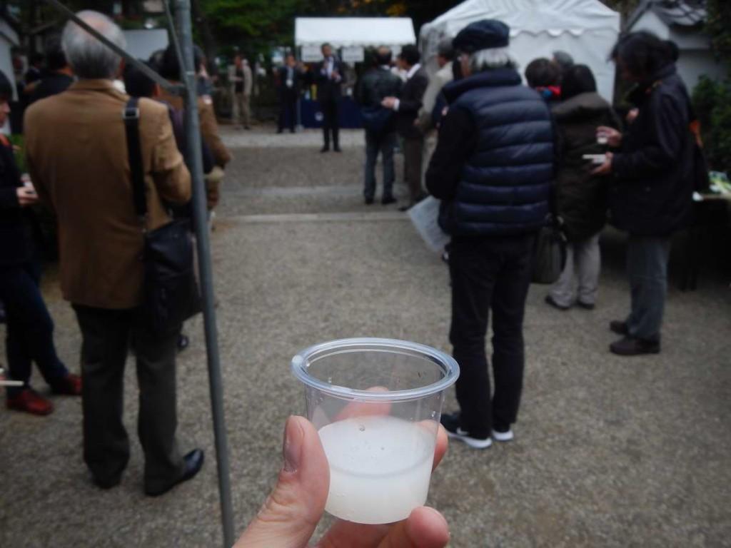 にごり酒と御香宮