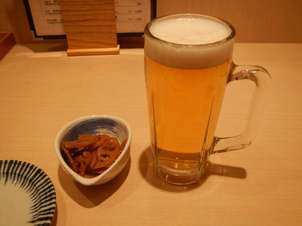 和利館の生ビール300円