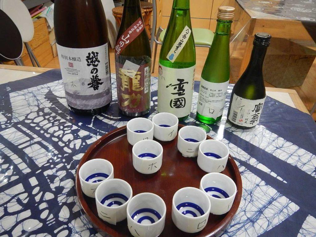 日本酒5種