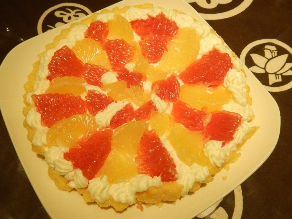 グレープフルーツのタルト