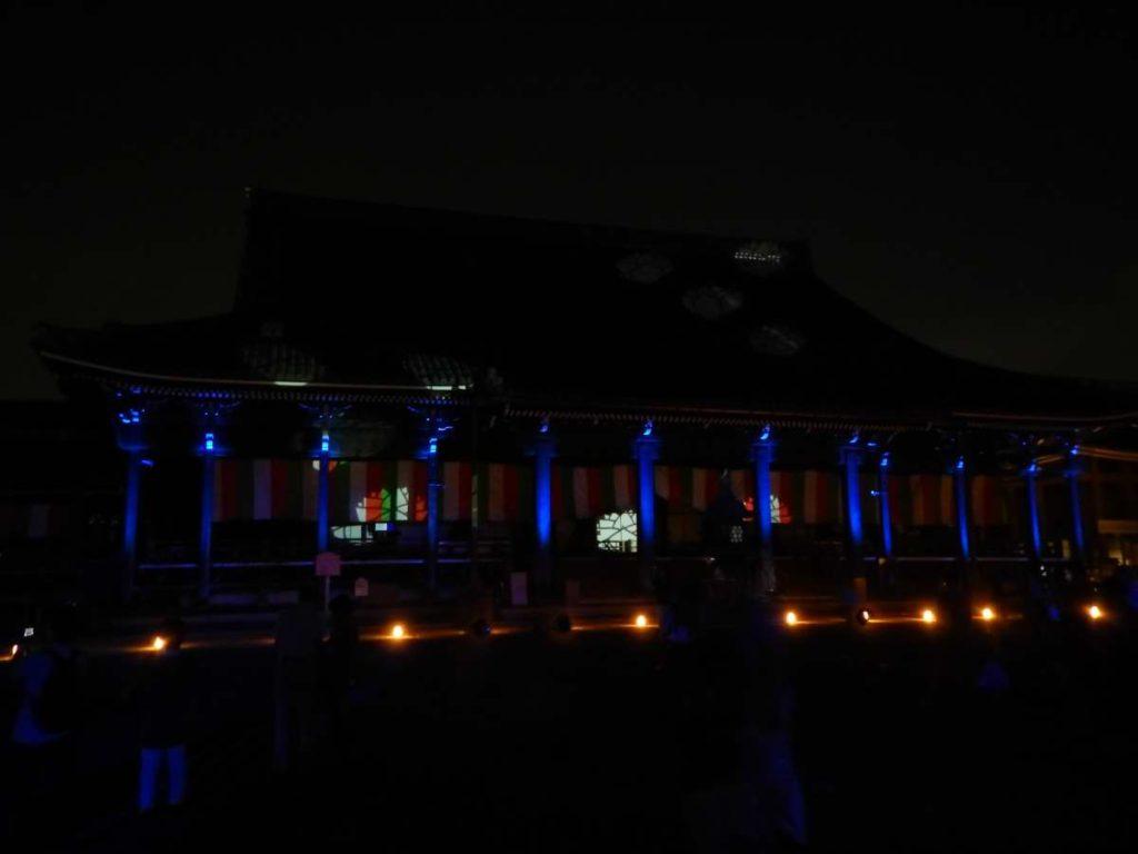 西本願寺阿弥陀堂ライトアップ