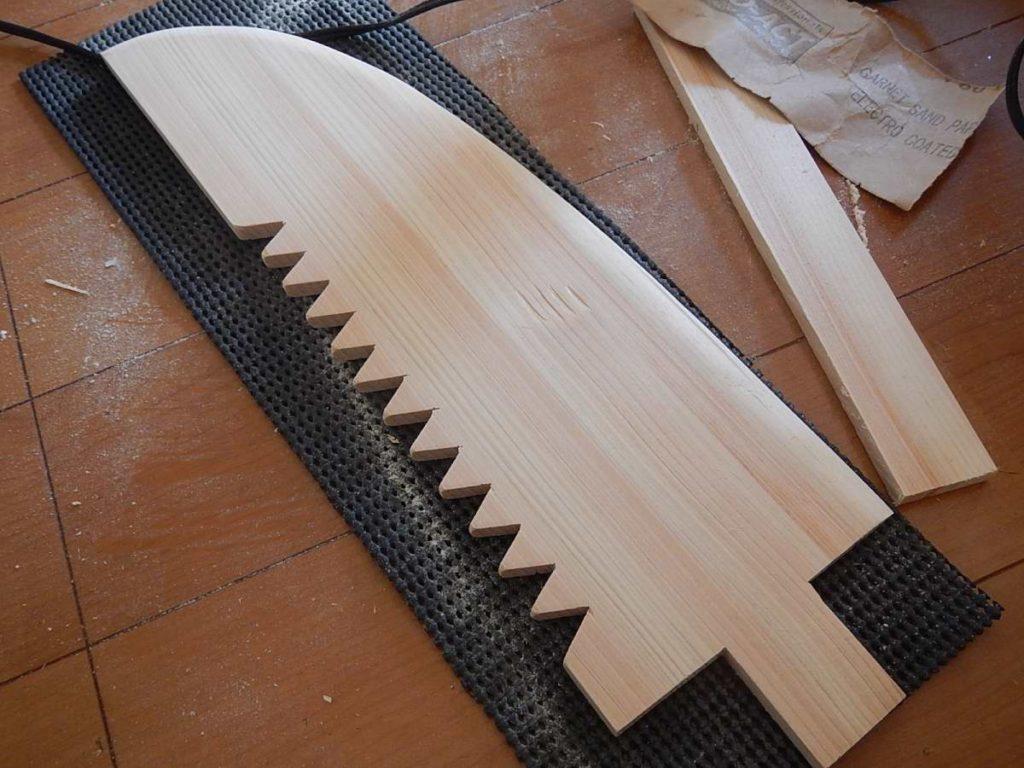 刀身の加工