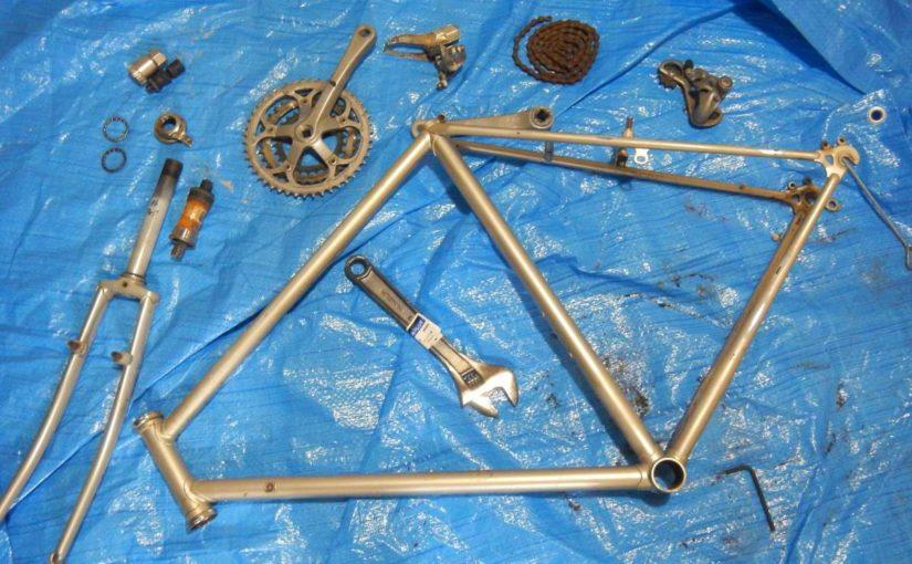 自転車の解体