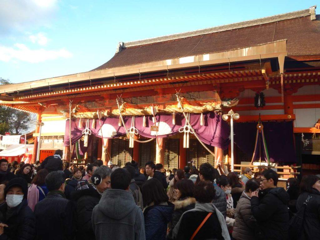 元日の八坂神社
