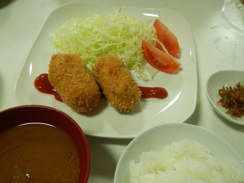 クリームコロッケ定食