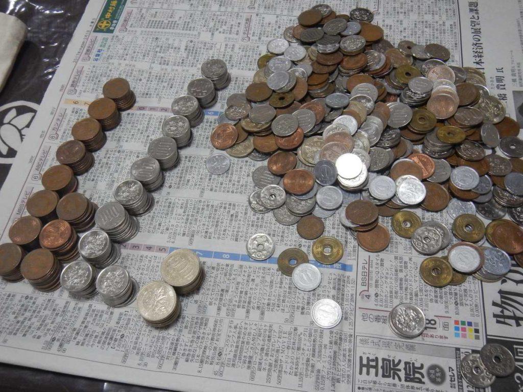 小銭を数える