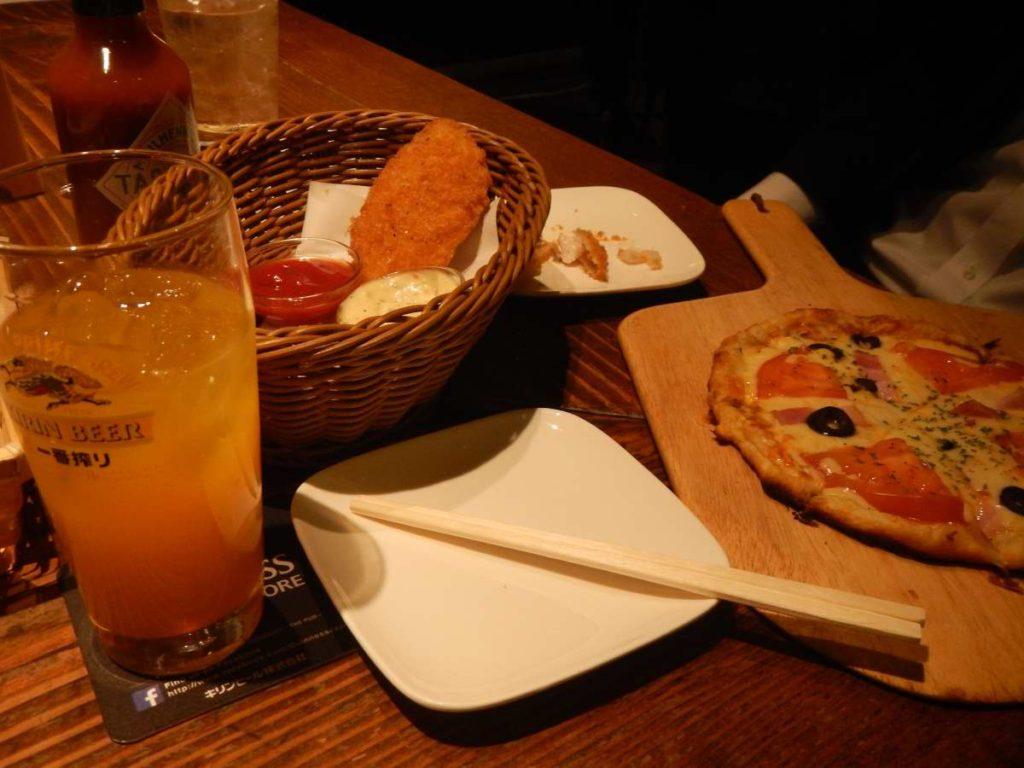 ピザとテキーラサンライズ