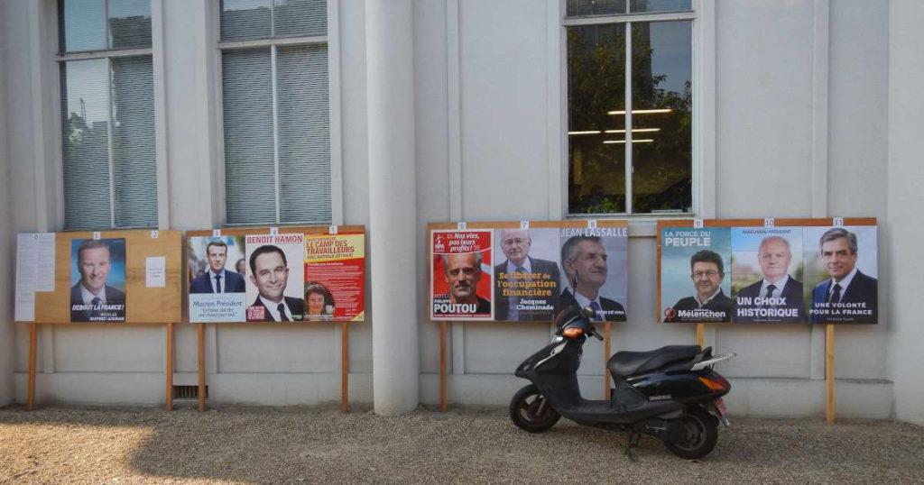 フランス大統領選ポスター