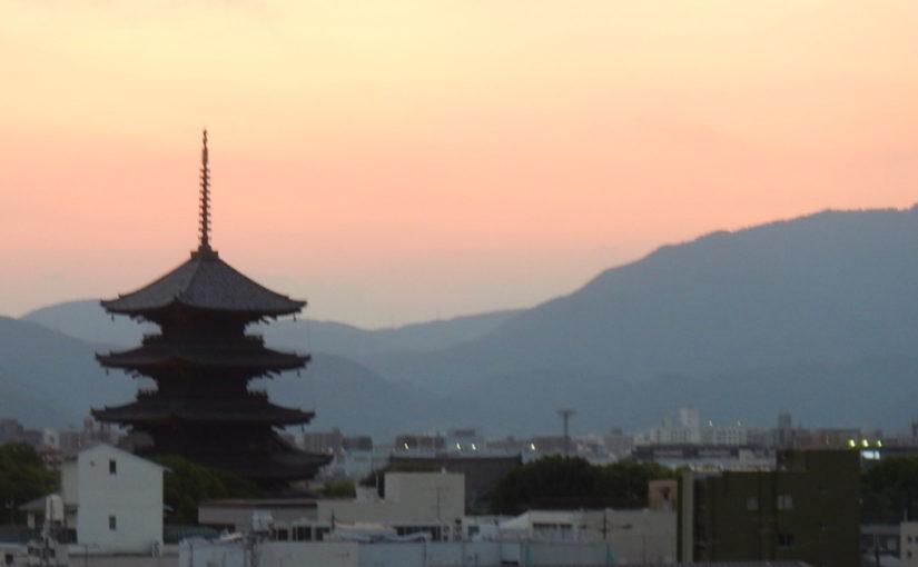 夕方の東寺
