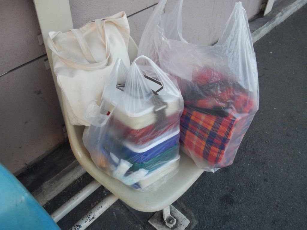ピクニックの荷物