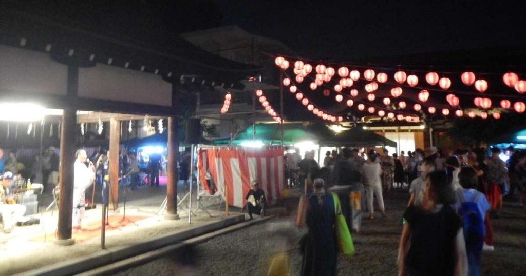 西院春日神社盆踊り