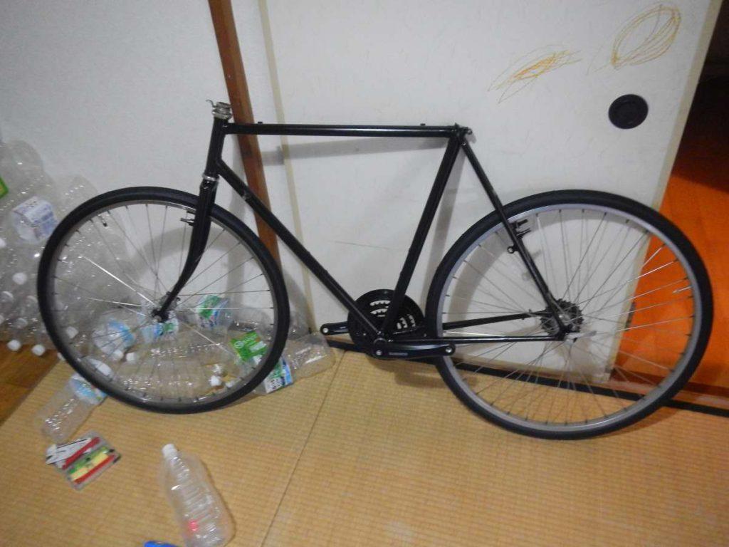 自転車タイヤ付き