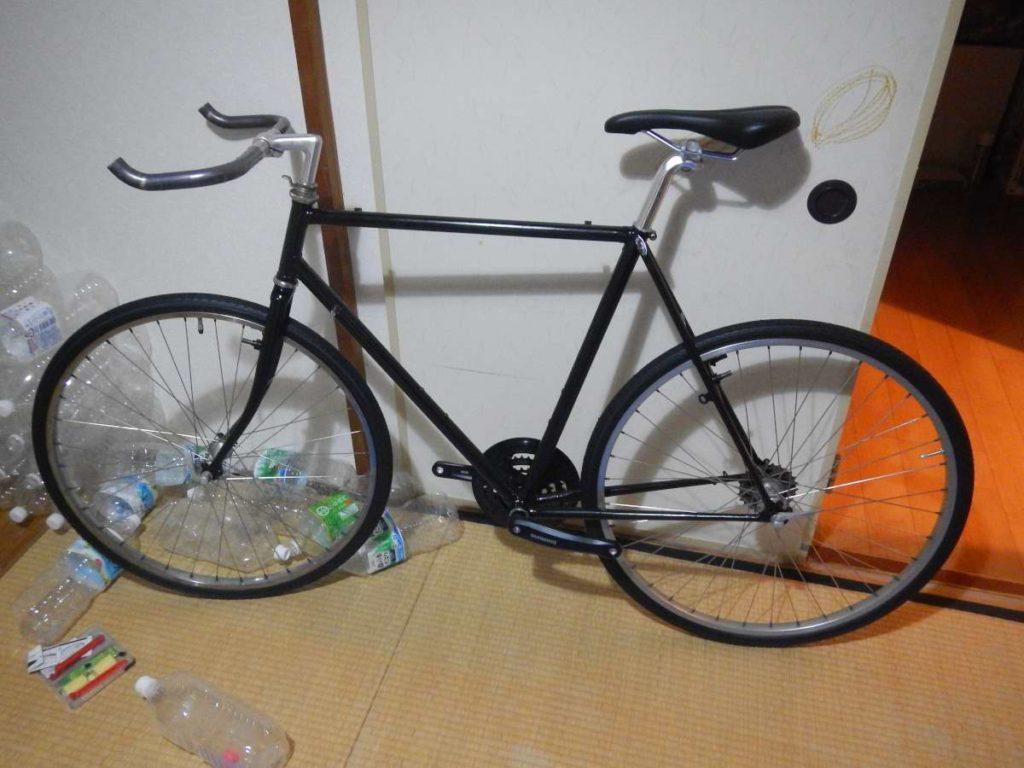 自転車ハンドルサドル付き