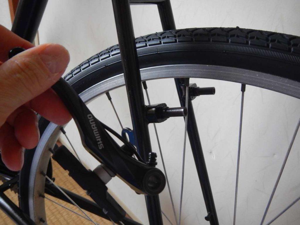 自転車ブレーキ交換
