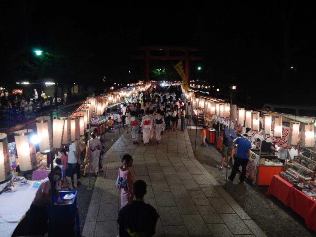 松尾大社八朔祭の露店