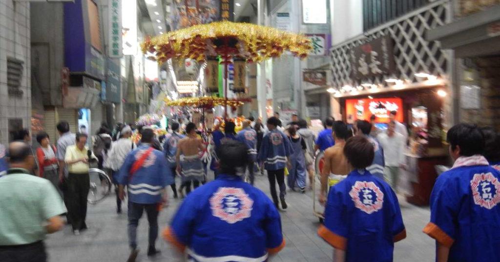 御香宮祭り花傘