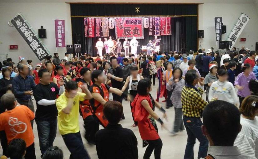 初めての大阪遠征盆踊り。すげぇ活気だが京都とはスタイルが違う