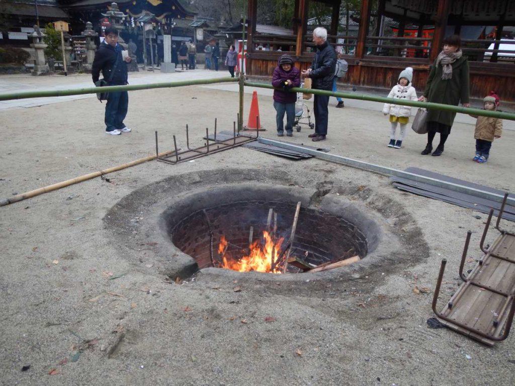藤森神社焚き火