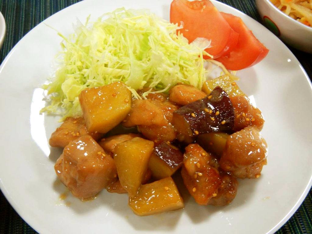 鶏とさつまいもの炒め煮