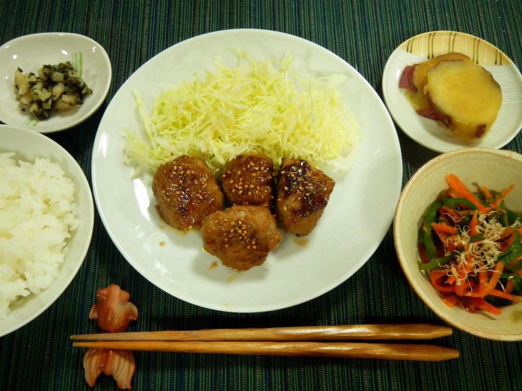 豚ひき肉の甘酢肉だんご定食