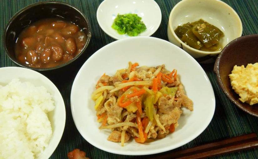 豚肉の野菜炒め定食