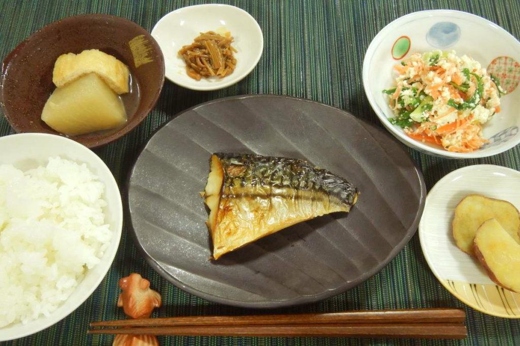 焼き塩鯖定食