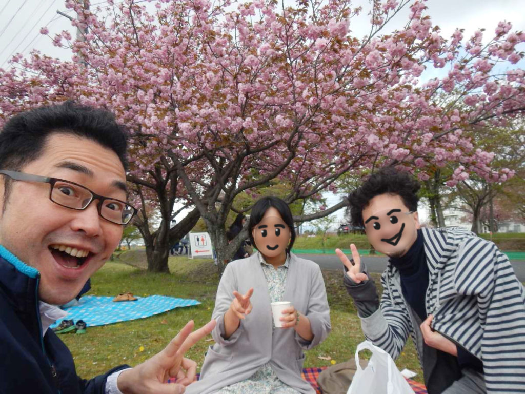 八重桜で宴会