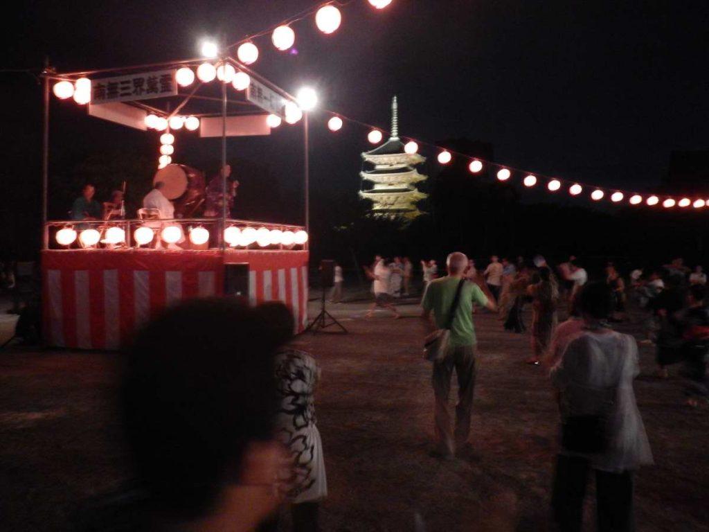 東寺の盆踊り2