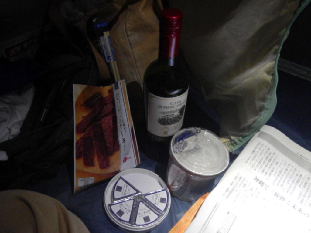 テント内でワイン