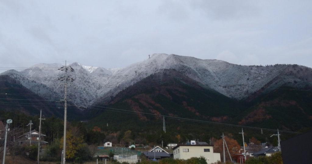 比良の初冠雪