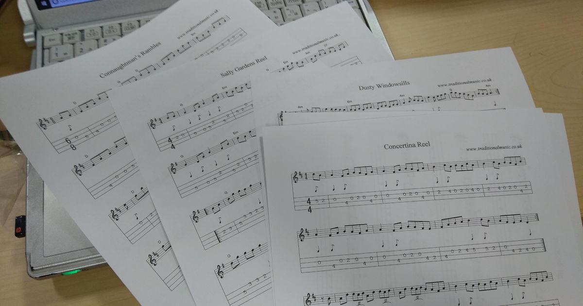 アイリッシュの楽譜