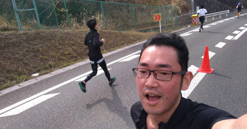 宇治川マラソン折り返し付近