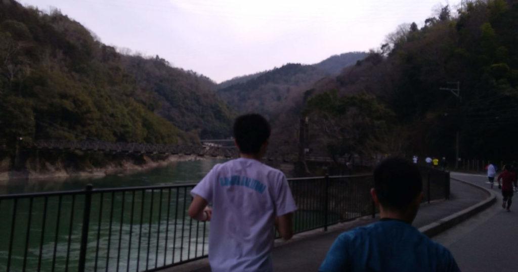 宇治川マラソン天ケ瀬つり橋