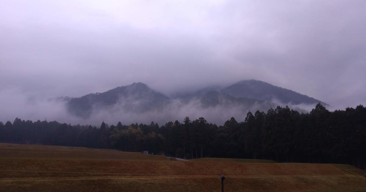 靄の比良山