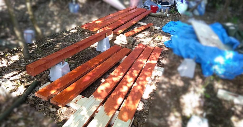 防虫塗装済み木材